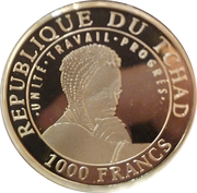 1000 Francs  (Machu Picchu) – obverse