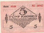 5 Korun (Bodenbach-Tetschen) – reverse