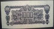 "1,000 Korun (Provisional ""Adhesive stamp"" issue) – reverse"