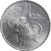 50 Korun (Victory of Communist Party) -  reverse