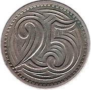 25 Haléřů – reverse