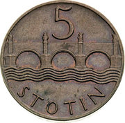 5 Stotin – reverse