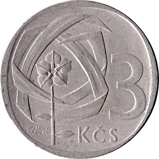 3 Koruny Czechoslovakia Numista