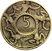 5 Sokolů (T. G. Masaryk) – reverse
