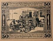 50 Heller (Ternberg) – reverse