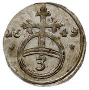 3 Pfennig - Elisabeth Lucretia – reverse