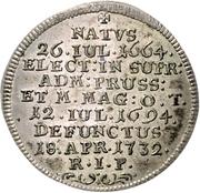 1 Groschen - Franz Ludwig Pfalzgraf von Neuburg - Death – reverse