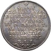 ¼ Thaler - Franz Ludwig von Pfalz-Neuburg (Death) – reverse