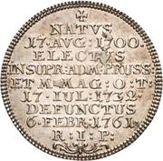 1 Groschen - Clemens August von Bayern (Death) – reverse
