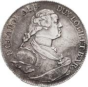 ½ Thaler - Karl Alexander von Lothringen – obverse