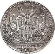 ½ Thaler - Karl Alexander von Lothringen – reverse