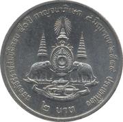 2 Baht - Rama IX (50th Anniversary - Reign of King Rama IX) -  reverse