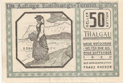 50 Heller (Thalgau) – obverse