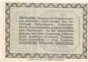 50 Heller (Thalgau) – reverse