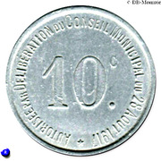 10 Centimes (Thiviers) – reverse
