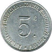 5 Centimes (Thiviers) – reverse