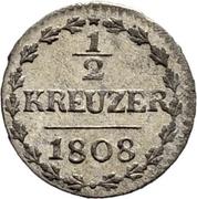 ½ Kreuzer – reverse