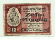 10 Pfennig (Allstedt) – obverse