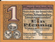1 Pfennig (Triebes, Hohenleuben, Langenwetzendorf) – obverse