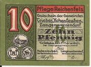 10 Pfennig (Triebes, Hohenleuben, Langenwetzendorf) – obverse