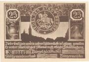 25 Pfennig (Bürgel) – obverse