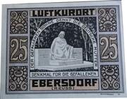 25 Pfennig (Ebersdorf in Thüringen) – reverse