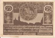 75 Pfennig (Bürgel) – obverse