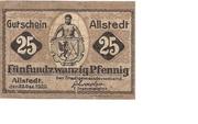 25 Pfennig (Allstedt) – obverse