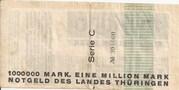 1,000,000 Mark (Thüringische Staatsbank) – reverse