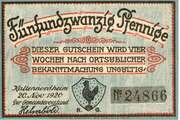 25 Pfennig (Kaltennordheim) – obverse