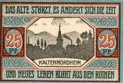 25 Pfennig (Kaltennordheim) – reverse