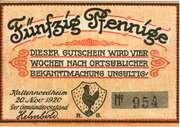 50 Pfennig (Kaltennordheim) – obverse