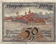 50 Pfennig (Pölzig) – obverse