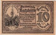 10 Pfennig (Katzhütte) – obverse