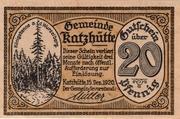 20 Pfennig (Katzhütte) – obverse