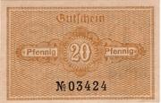 20 Pfennig (Katzhütte) – reverse
