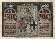 25 Pfennig (Geisa) – obverse