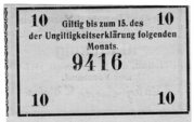 10 Pfennig (Spar- und Darlehnskassenverein) – reverse