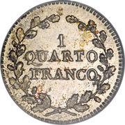 1 Quarto Franco – reverse