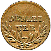3 Denari – reverse