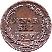 6 Denari – reverse