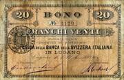 20 Francs (Banca della Svizzera Italiana) – obverse