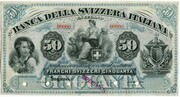50 Francs (Banca della Svizzera Italiana) – obverse