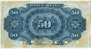 50 Francs (Banca della Svizzera Italiana) – reverse