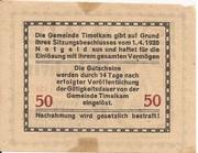 50 Heller (Timelkam) -  reverse