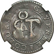 1½ Pence (Black Dog) – reverse