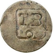 2¼ Pence (TBO Countermark on French colonies 1 Stampee) -  obverse