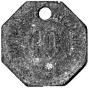 10 Pfennig  - Tönning – reverse