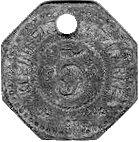5 Pfennig  - Tönning – reverse