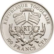 100 Francs CFA (Green Sunbird) – obverse
